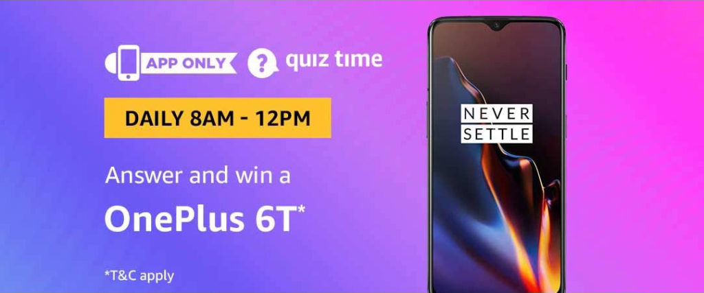 Amazon Quiz Time Daily - Today's Answers [27th-March-2019]