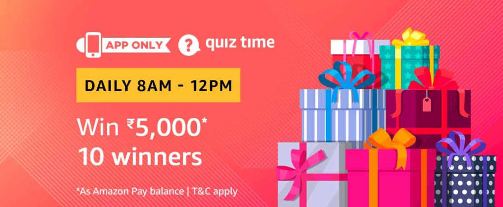 Amazon Quiz Time Daily - Today's Answers [4th-Feb-2019]