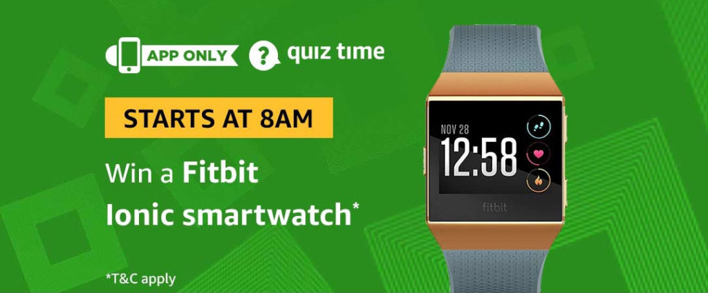 Amazon Quiz Time Daily - Today's Answers [7th-March-2019]