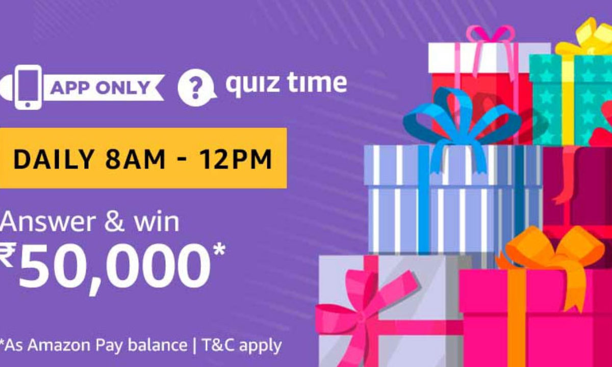 Amazon Quiz Answers 4 May 2020 Win Rs 50 000