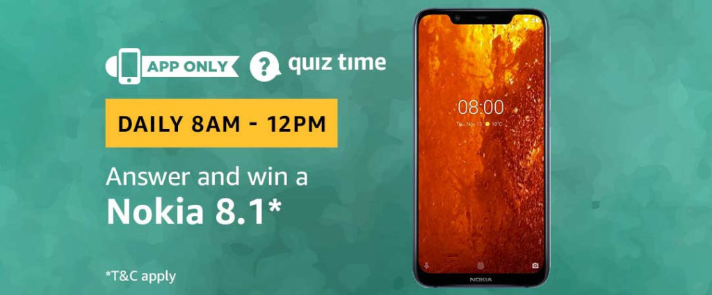Amazon Quiz Time Daily - Today's Answers [13th-Feb-2019]