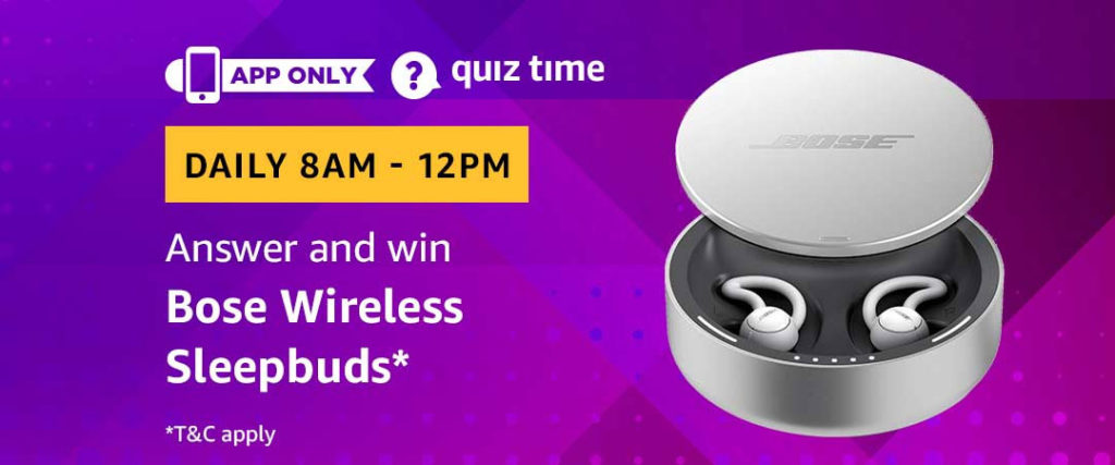 Amazon Quiz Time Daily - Today's Answers [2nd-March-2019]