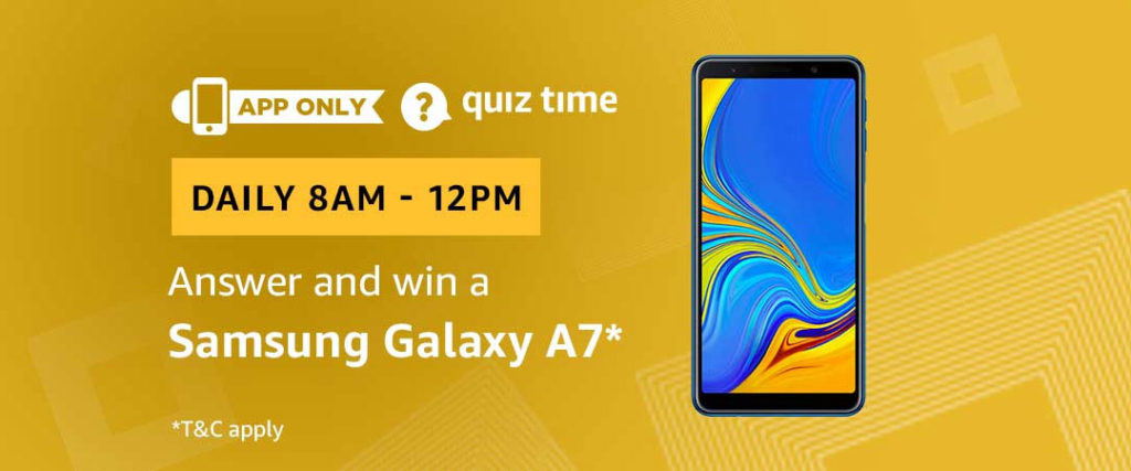 Amazon Quiz Time Daily - Today's Answers [3rd-Feb-2019]