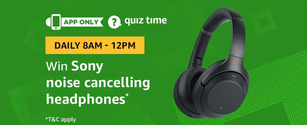 Amazon Quiz Time Daily - Today's Answers [5th-Feb-2019]