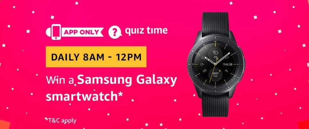 Amazon Quiz Time Daily - Today's Answers [16th-March-2019]