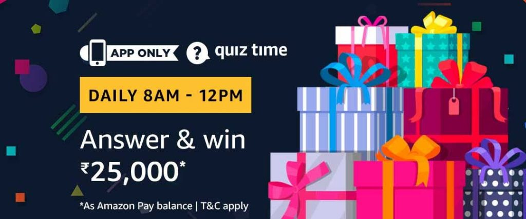 Amazon Quiz Answers 30 May 2019 Win 25 000 Shamnadt Com