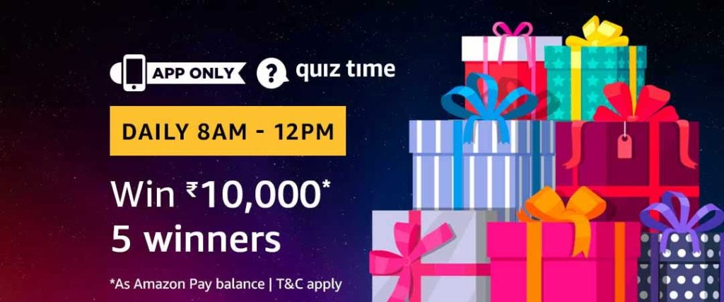 Today's Amazon Quiz Answers - [10 May 2019 Daily Quiz]