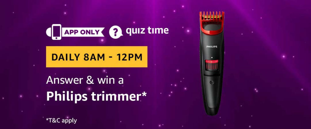 Amazon Quiz Time Daily - Today's Answers [26th-March-2019]