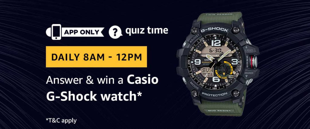 Amazon Quiz Time Daily - Today's Answers [28th-March-2019]