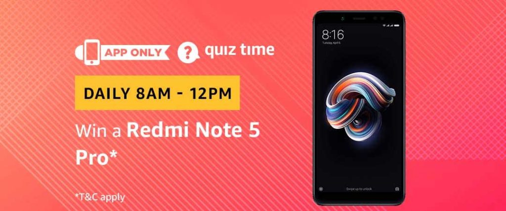 Amazon Quiz Time Daily - Today's Answers [6th-March-2019]