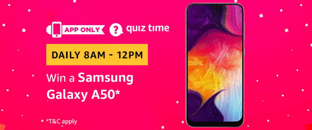 Today's Amazon Quiz Answers - [12 May 2019 Daily Quiz]