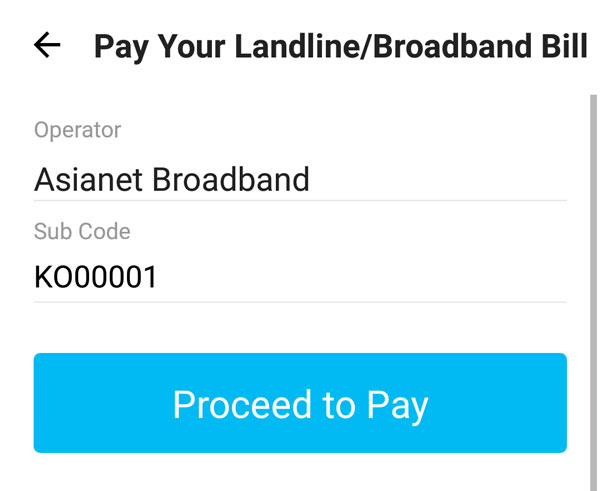 Get ₹40 PayTM Cashback For Asianet Broadband Bills