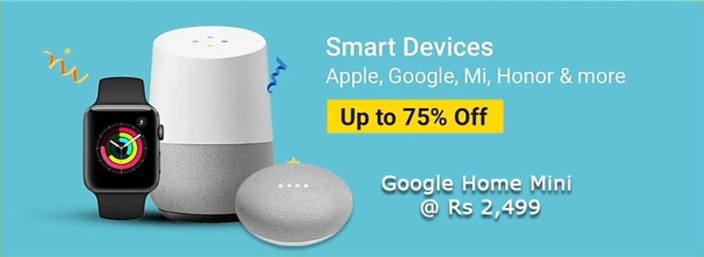 Flipkart Big Shopping Days Offer on Google Home Mini - @ Rs 2,499