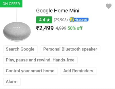 Google Home Mini price dropped by 50%