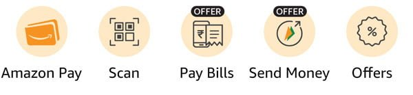 Select the Amazon Pay icon
