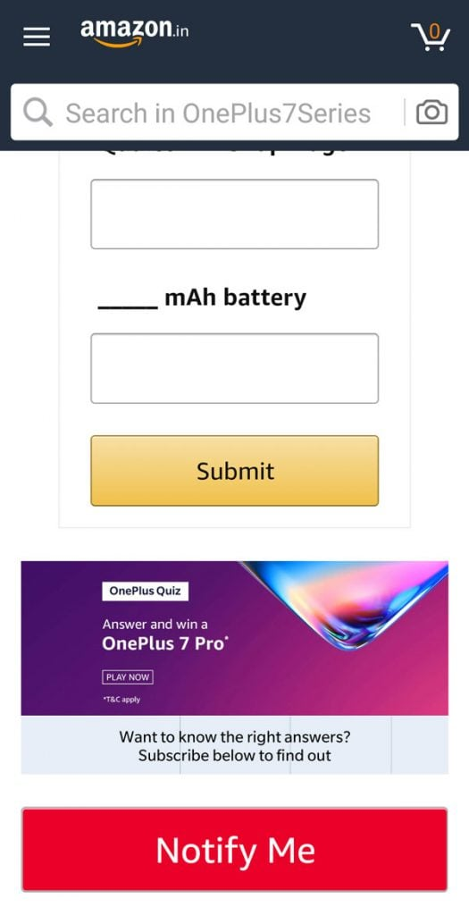 OnePlus Landing and Promotion page