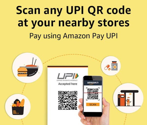 Scan any UPI QR code at the nearby shop