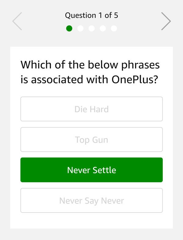 Which of the below phrases is associated with OnePlus?