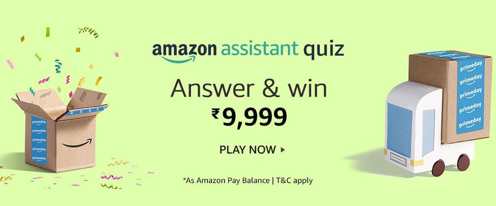 Amazon Assistant Quiz - Win ₹9,999