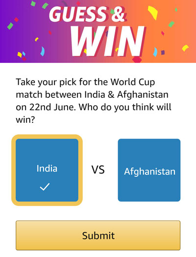 Guess And Win - Who will win? India or Afghanistan ?