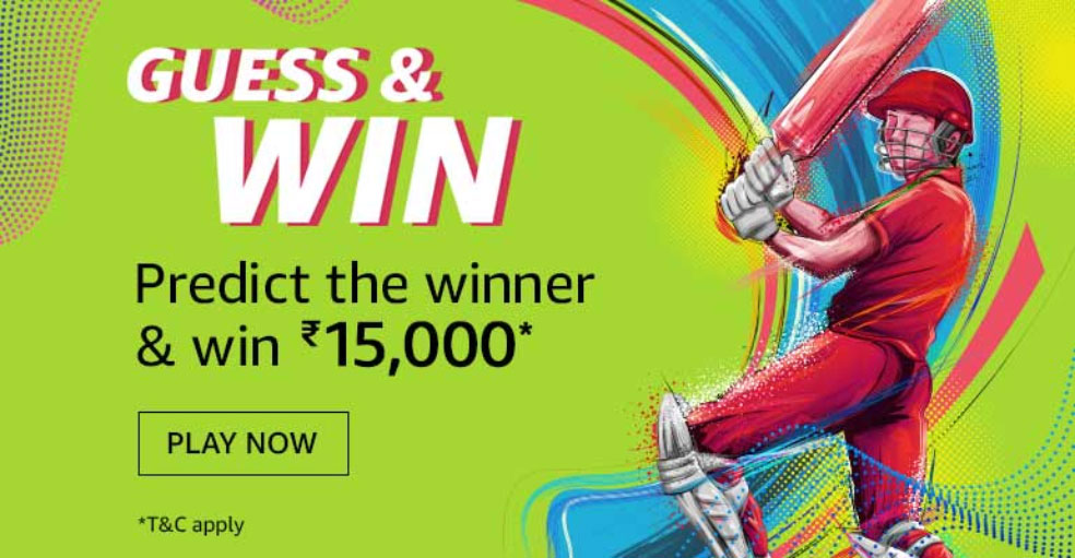 Amazon Guess And Win (Win ₹15,000 - 21 June 2019)