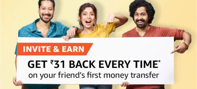 Invite And Earn ₹31 On Amazon Pay UPI