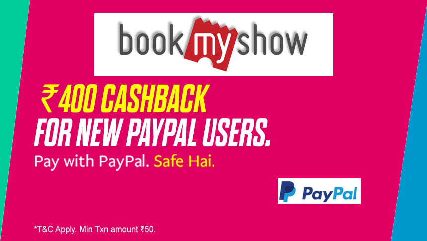 100% Cashback Up To ₹400 For New PayPal Users