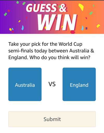 Guess And Win - Who will win? Australia or England?