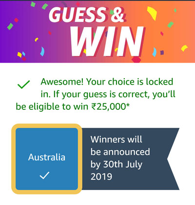 Guess And Win - Australia