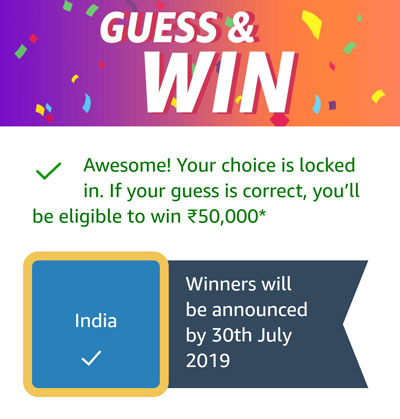Guess And Win - India