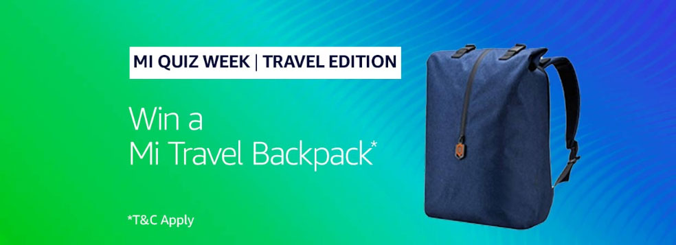 Amazon Mi Quiz Week Answers - Win Mi Travel Pack [Till 28 July 2019]
