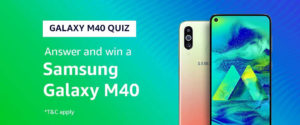 Galaxy M40 Amazon Quiz Answers - Win Samsung Galaxy M40 [Till 14 July 2019]