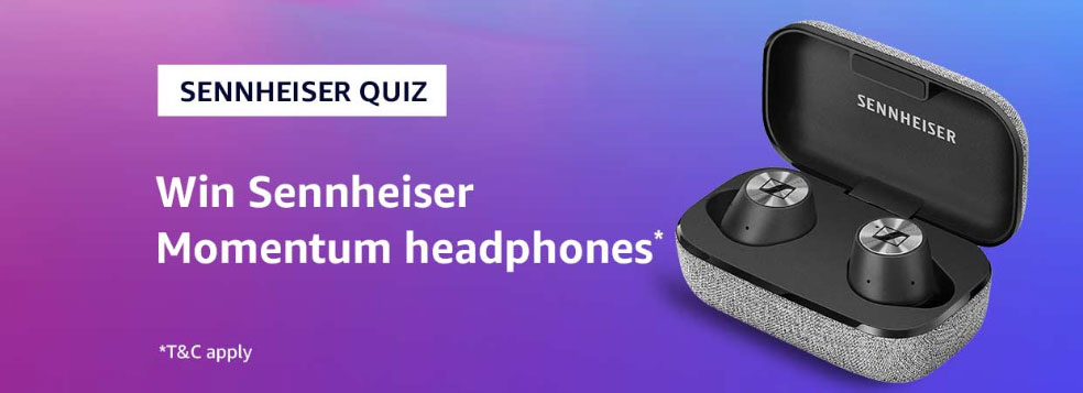 Amazon Sennheiser Quiz Answers - Win Momentum Headphones [Till 14 Aug 2019]