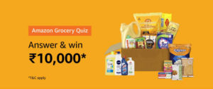 Amazon Grocery Quiz Answers - Win Rs. 10,000