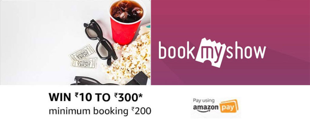 BookMyShow Amazon Pay Offer - Cashback Up To ₹300 [Till 17 Sept 2019]