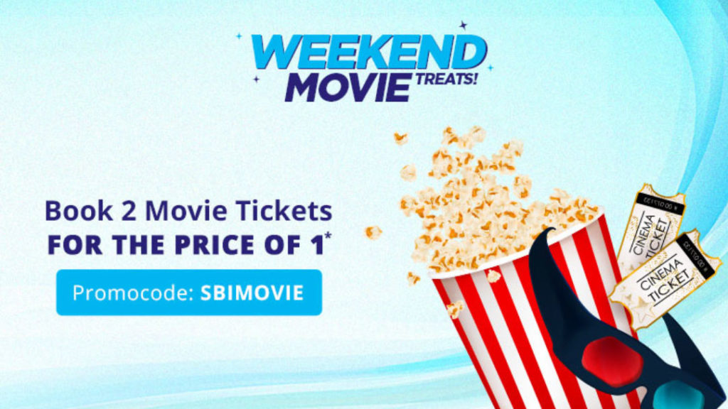 Paytm Movies Offer - Use SBI Debit Card to get 50% discount up to Rs.300