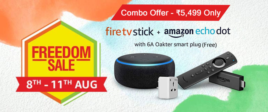 Fire TV + Echo Dot Combo Offer With Free 16A Smart Plug for ₹5,499