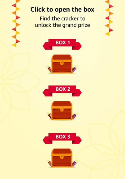 Open any of the three boxes