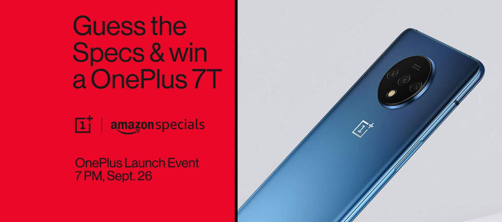 Amazon Guess The Specs And Win OnePlus 7T