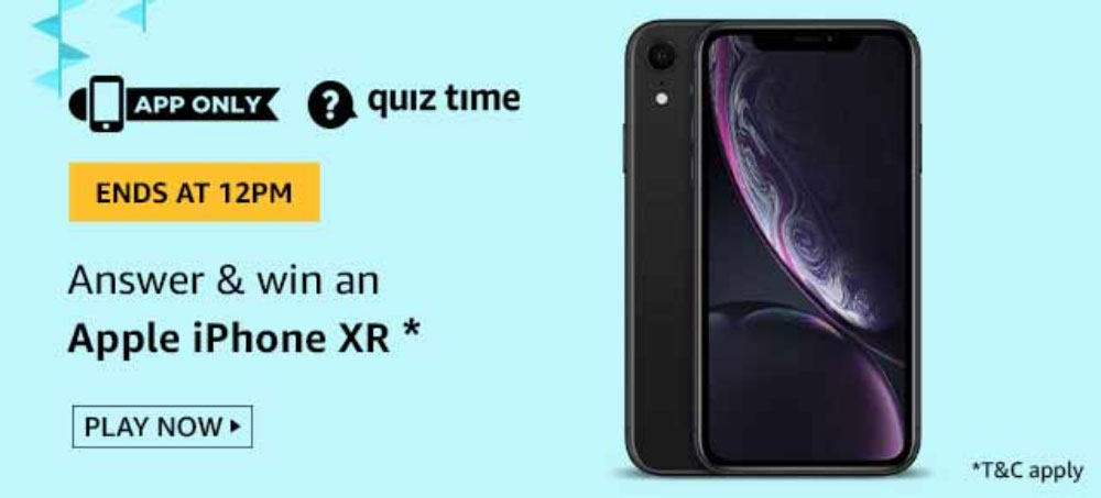 Amazon Daily Quiz Answers - Win iPhone XR