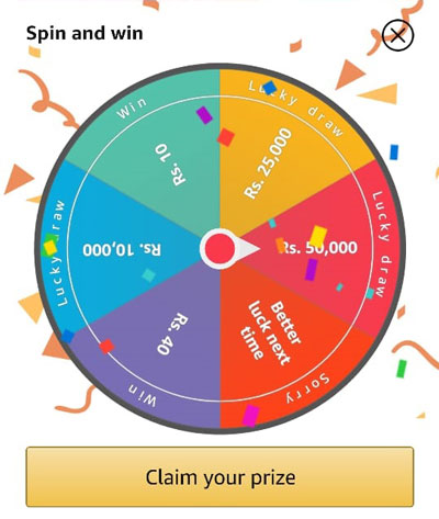 Spin the wheel to try your luck