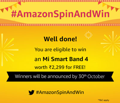 Amazon Spin And Win - 10,000+ Winners (22 Sept 2019)