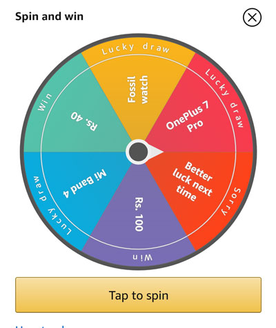 Amazon Spin And Win