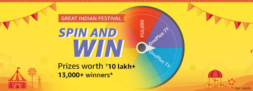 Amazon Spin And Win - 13,000+ Winners (27 Sept 2019)