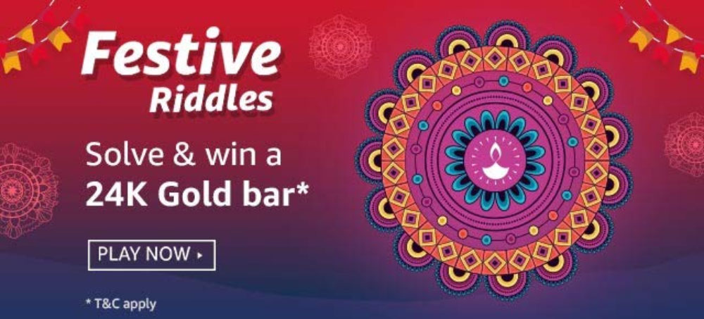 Amazon Festive Riddles Answers - Win 24K Gold Bar