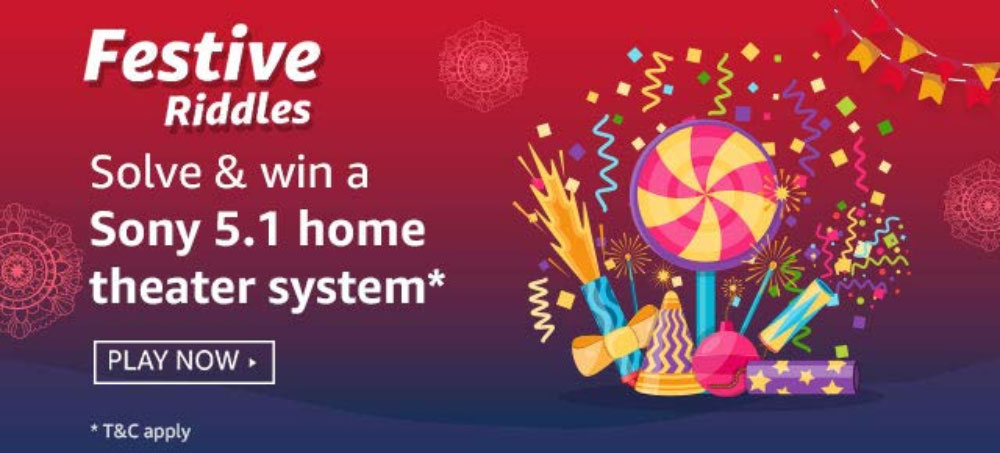 Amazon Festive Riddles Answers - Win Sony 5.1 Home Theater