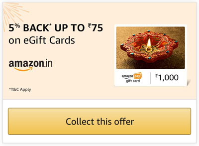 Collect This Offer From Amazon Gift Card Section