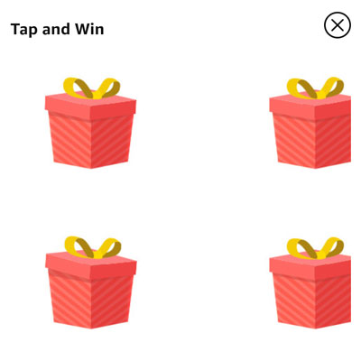 Tap on the box that you want to open.