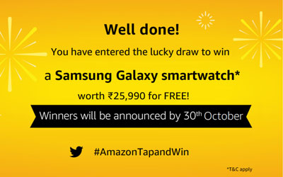 Amazon Tap And Win - Over Rs.12 Lakhs