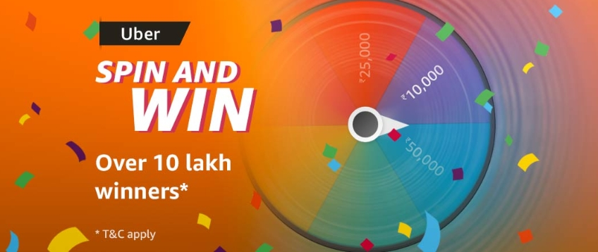 Amazon Uber Spin And Win - 10Lakh+ Winners